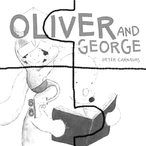Oliver and George Puzzle 4 pieces(bw)