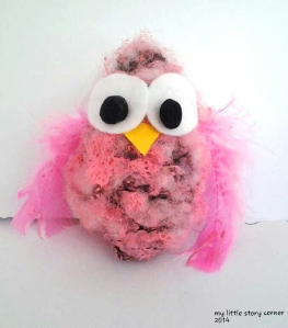 pine cone owl pink