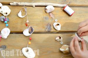 Beach-Shell-Wind-Chime-Craft