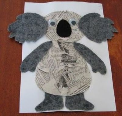 Koala my little story corner for Australian arts and crafts