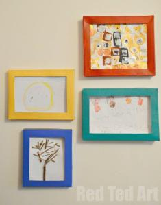 Storing-Kids-Art-in-DIY-Box-Picture-Frames