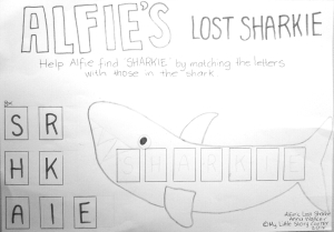 Alfie's lost sharkie literacy bw