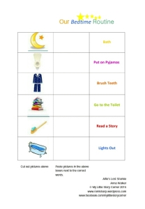Bedtime routine chart pic