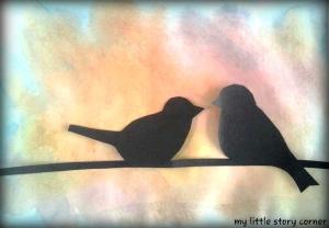 Birds on a wire art